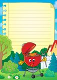 Lined paper with barbeque theme 3 royalty free illustration