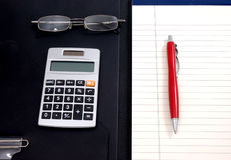 Lined Paper And Calculator Royalty Free Stock Image