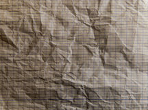 Lined paper crumpled texture - Rectangle squares. HD image of Lined paper crumpled Stock Images