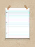 Lined paper on grunge background Stock Photos