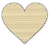 Lined paper heart Royalty Free Stock Photography