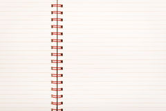 Lined Paper Notebook Royalty Free Stock Image