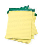Lined paper notebooks on white Royalty Free Stock Photos