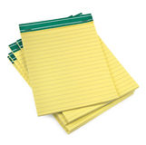 Lined paper notebooks on white Royalty Free Stock Images