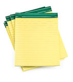 Lined paper notebooks on white. Background, minimal natural shadow underneath Royalty Free Stock Image