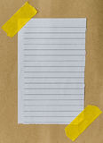 Lined paper scrap Royalty Free Stock Image