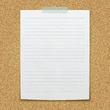 Lined paper sheet. Stock Photo
