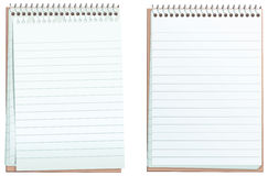 Lined ringbound notepads Royalty Free Stock Images