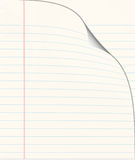 Lined school or note book Royalty Free Stock Photo