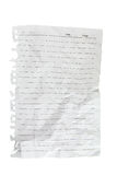 Lined sheet Royalty Free Stock Photos