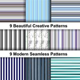 Abstract Striped Pattern in Retro Style. Fabric & Web Design Template royalty free illustration