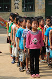 Lined up the children royalty free stock photography