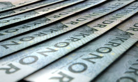 Lined Up Close-Up Banknotes Stock Photo
