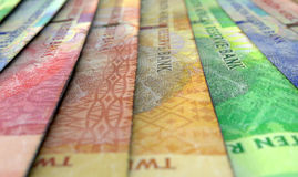 Lined Up Close-Up Banknotes Royalty Free Stock Photos