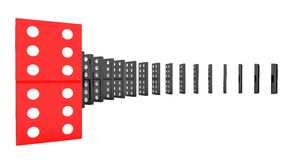 Lined up dominoes Stock Photography