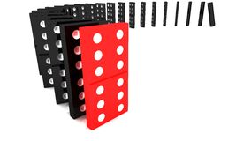Lined up dominoes Stock Images