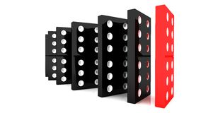 Lined up dominoes Royalty Free Stock Photo