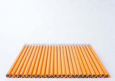 Lined up Pencils Royalty Free Stock Images
