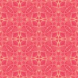 Lined waves seamless pattern background illustration in reddish pink tone Royalty Free Stock Photography