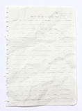 Lined white crumpled paper Stock Photography