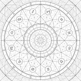 Linedraft d'anneau de zodiaque Photos libres de droits