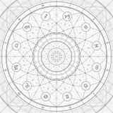 Linedraft dell'anello dello zodiaco fotografie stock libere da diritti