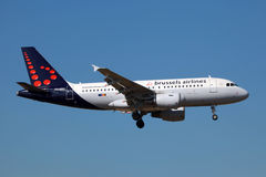 Linee aeree Airbus A319 di Bruxelles Immagine Stock