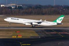 Linee aeree Airbus A340 di Mahan Immagini Stock
