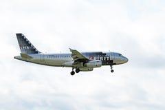 Linee aeree Airbus A319-132 di spirito Immagine Stock