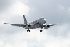 Linee aeree Airbus A319-132 di spirito Fotografie Stock