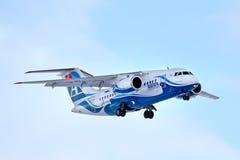 Linee aeree Antonov An-148 di Angara Fotografia Stock