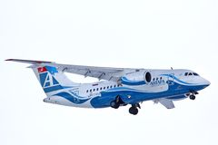 Linee aeree Antonov An-148 di Angara Immagine Stock Libera da Diritti
