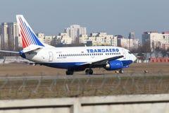 Linee aeree Boeing di Transaero 737-524 aerei Fotografia Stock Libera da Diritti