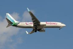 Linee aeree caraibiche Boeing 737-800 Immagini Stock Libere da Diritti