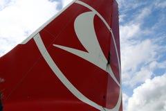 Linee aeree di Turkisk - PODGORICA, MONTENEGRO fotografia stock libera da diritti