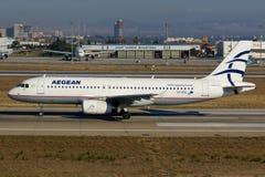 Linee aeree egee Airbus A320 Fotografia Stock