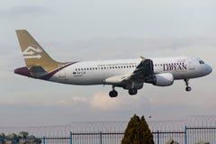 Linee aeree libiche Airbus A320 Immagine Stock Libera da Diritti