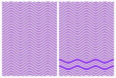 Linee alterne di zigzag di blu e di bianco Immagine Stock