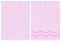 Linee alterne di zigzag di rosa e di bianco Fotografia Stock Libera da Diritti