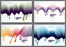 Linee ambiti di provenienza fluidi di Wave dell'estratto di vettore messi streptococco dinamico 3d Fotografie Stock Libere da Diritti