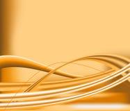 Linee arancio fondo ondulato dell'estratto Immagini Stock