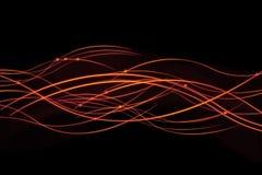 Linee ardenti luminose Fotografie Stock