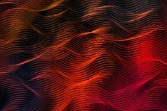 Linee ardenti luminose su fondo nero Fotografia Stock