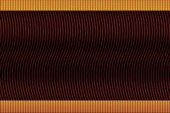 Linee ardenti luminose su fondo nero con le inserzioni Fotografia Stock
