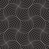 Linee arrotondate senza cuciture modello di vettore Progettazione geometrica astratta del fondo Grata geometrica circolare della  Immagine Stock Libera da Diritti