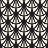 Linee arrotondate senza cuciture modello di vettore Progettazione geometrica astratta del fondo Grata geometrica circolare della  Immagini Stock