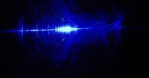 Linee astratte blu fondo delle particelle delle curve Fotografie Stock