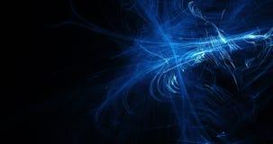 Linee astratte blu fondo delle particelle delle curve Immagine Stock Libera da Diritti