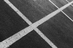Linee astratte del punto di parcheggio Fotografie Stock Libere da Diritti