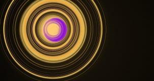 Linee astratte gialle e porpora fondo delle particelle delle curve Immagine Stock Libera da Diritti
